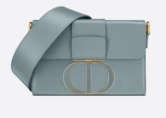DIOR 30 MONTAIGNE BOX BAG Mint Cloud Blue Box Calfskin M9204U