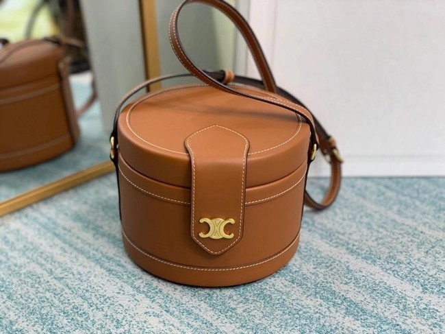 CELINE MEDIUM CAMARAT BAG IN NATURAL CALFSKIN 195192 brown