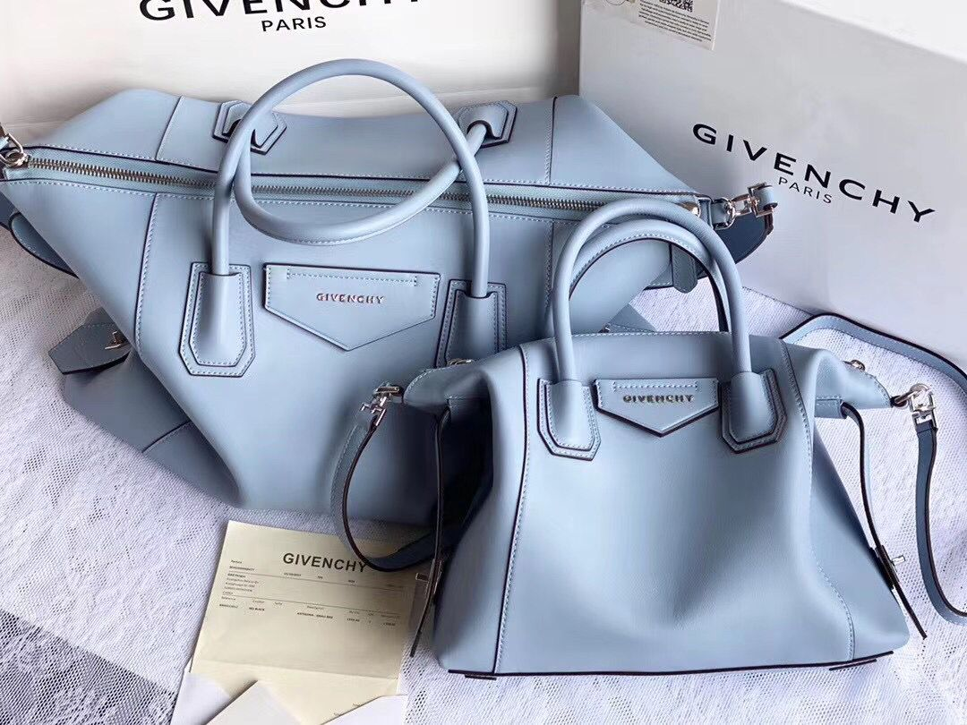 GIVENCHY Original Leather Shoulder Bag 63188 sky Blue
