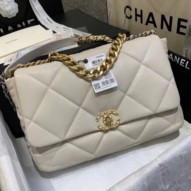 chanel 19 large flap bag AS1162 Beige
