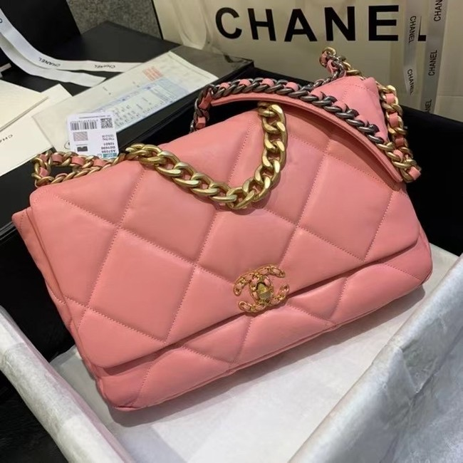 chanel 19 large flap bag AS1162 pink