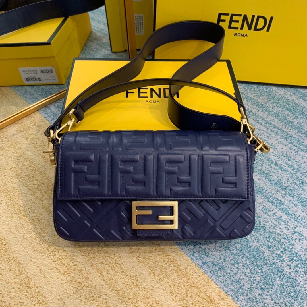 FENDI BAGUETTE Mini Shoulder Bag 8BS017 dark blue