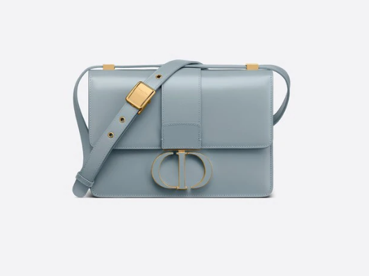 DIOR 30 MONTAIGNE BAG Cloud Blue Box Calfskin M9203UM