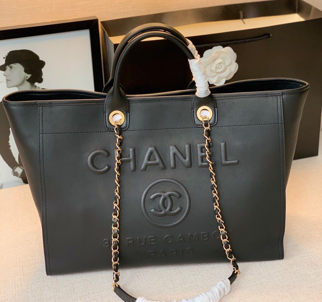 Chanel Original Leather Shopping Bag A66945 Black