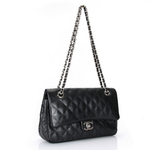 Chanel Classic Flap Bag Caviar Leather A1112 Black