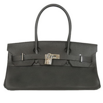 Hermes Birkin 42cm JPG Birkin Togo Leather Black Bag Silver Hardware