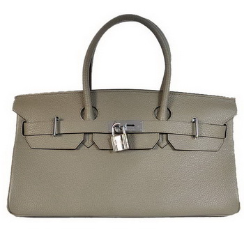 Hermes Birkin 42cm JPG Birkin Togo Leather Grey Bag Silver Hardware