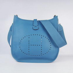 Hermes Cowhide Evelyne Messenger Bag 6309 Blue