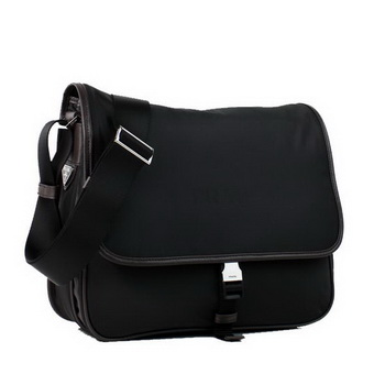 Prada Fabric Messenger Bag V166P Black