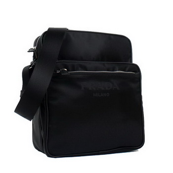 Prada Vela Fabric Messenger Bag BT0189 Black