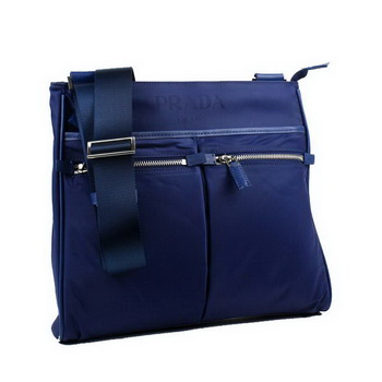 Prada Vela Fabric Messenger Bag BT0220 Blue