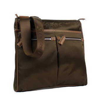 Prada Vela Fabric Messenger Bag BT0220 Brown