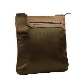 Prada Vela Fabric Messenger Bag BT0221 Brown