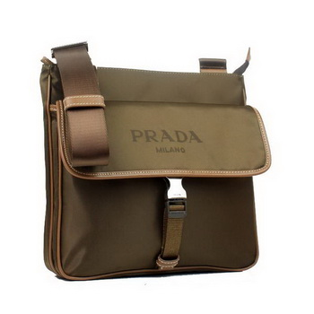 Prada Vela Fabric Messenger Bag BT0269 Brown