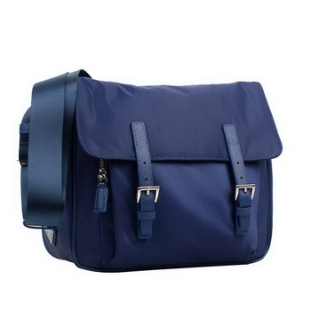 Prada Vela Flap Bag BT6671 Blue