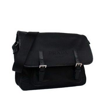 Prada Vela Flap Bag BT9810 Black