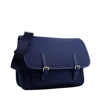 Prada Vela Flap Bag BT9810 Blue