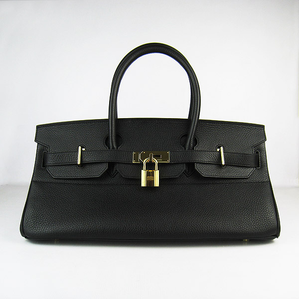 Hermes Birkin 6109 Togo Leather Bag Black 42cm Gold