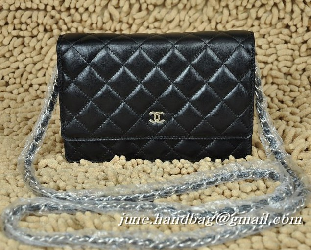 Chanel Chain Wallet 33814 Black
